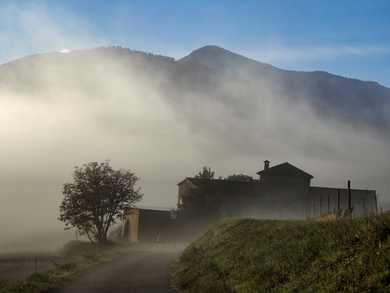Alain Brasseur - Ferme dans la brume.